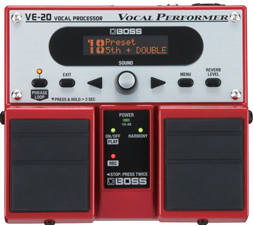 Boss VE-20 VE20 Vocal Processor Looper Effects Patchman