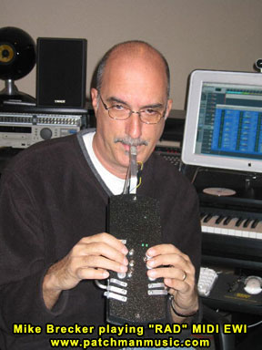 Michael Brecker Playing EWI Patchman
