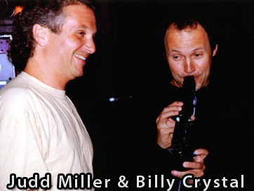 Judd Miller with Billy Crystal playing the Crumar EVI