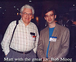 Matt Traum with Bob Moog