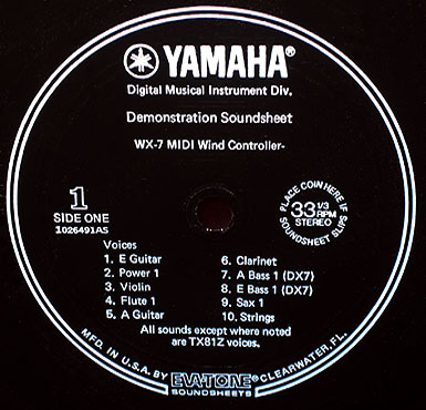 WX7 Sound Sheet Label 1