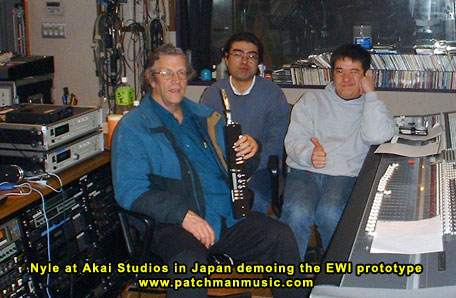 Nyle Steiner at Akai Studio Japan Patchman