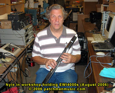 Nyle Steiner Holding EWI4000s Patchman
