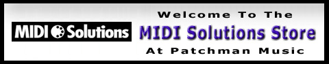 Midi Solutions Store at Patchman Music