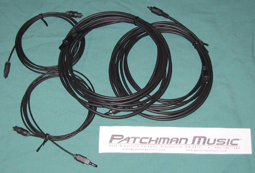 ADAT optical TOSLINK cables for sale at Patchman Music