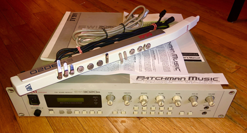 used akai ewi3020 ewi3020m ewi-3020 ewi-3020m wind controller system analog at Patchman Music