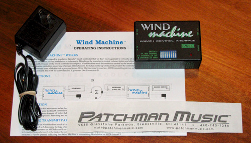 used Anatek Wind Machine WIndMachine breath controller interface Midi at Patchman Music