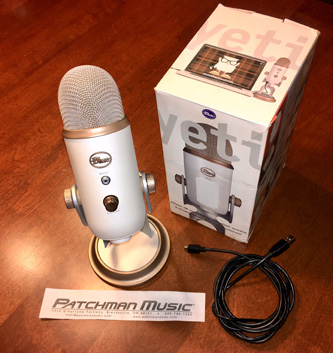 Blue Yeti Microphone Mic White Blackout Vintage Silver Edition USB audio mic at Patchman Music