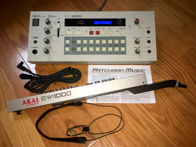 EWI EWI1000 EWI-1000 Michael Brecker Nyle Steiner Matt Traum EWV2000 wind controller synth Patchman Music