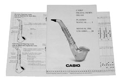 Casio DH-100 Owner's Manual DH100 Sax Horn Parts at Patchman Music