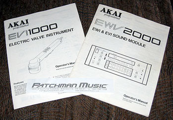 Akai EWV2000 EVI1000 Manuals at Patchman Music