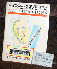 Yamaha WX7 WX-7 Expressive FM Applications Book and Patch Cassette by Sal Gallina at Patchman Music