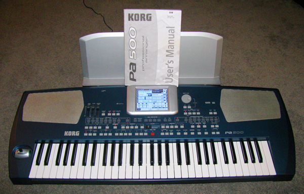 used Korg PA500 PA-500 ORT arranger keyboard at Patchman Music