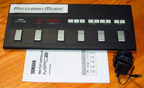 Used Yamaha MFC2 MFC-2 MIdi wind controller foot pedal at Patchman Music