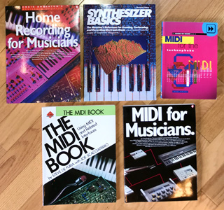 MIDI and technology and recording books info at Patchman Music