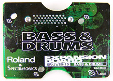 Roland SR-JV80-10 Bass and Drums Bass & Drums Expansion card board used at Patchman Music
