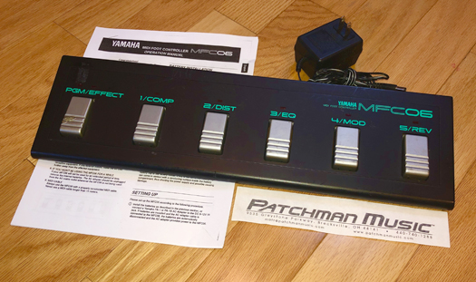 Used amaha MFC06 MFC-06 MFC 06 MIDI Foot pedal at Patchman Music